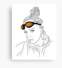 Girl with orange glasses Canvas Print
