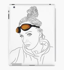 Girl with orange glasses iPad Case/Skin