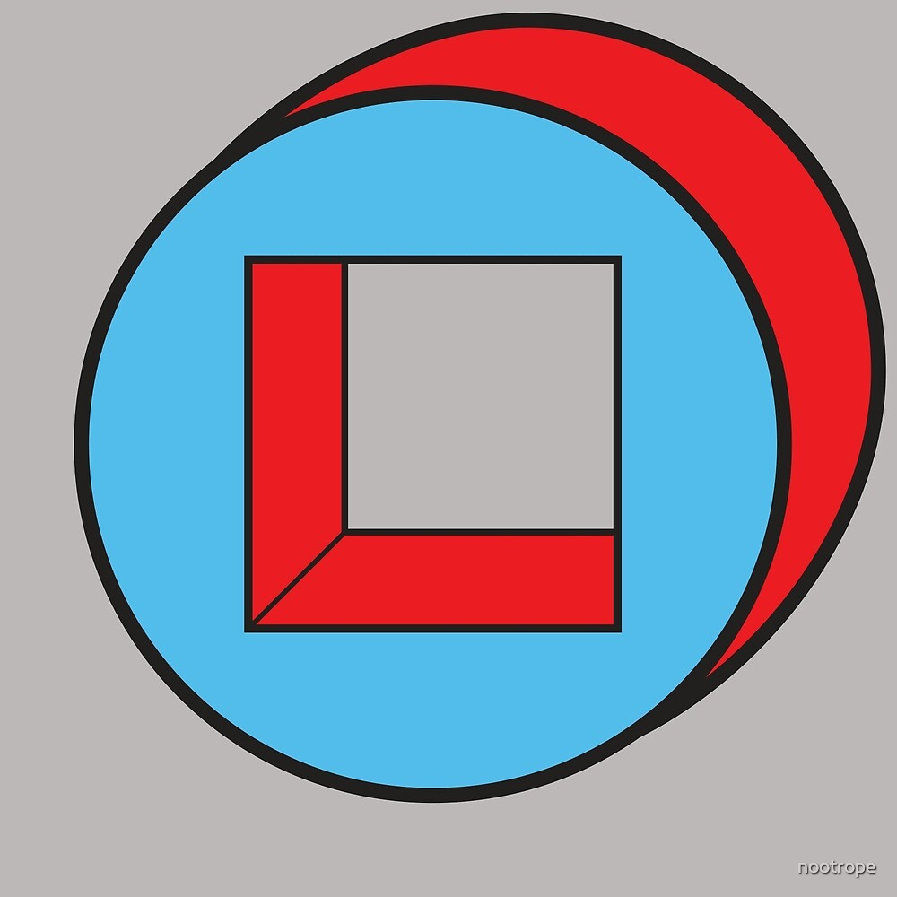 Blue Square / Red Circle by nootrope