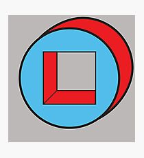 Blue Square / Red Circle Photographic Print
