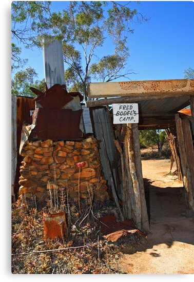 Fred Bodel's Camp at Lightning Ridge by Darren Stones