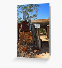 Fred Bodel's Camp at Lightning Ridge Greeting Card