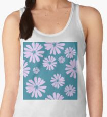 Brushstroke Daisies in Teal Women's Tank Top