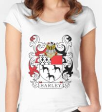 Barley Coat of Arms Women's Fitted Scoop T-Shirt