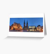 Altes Rathaus und Dom am Marktplatz, Bremen, Deutschland  Greeting Card