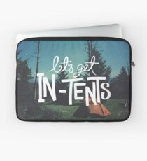 Let's Get In-Tents Laptop Sleeve
