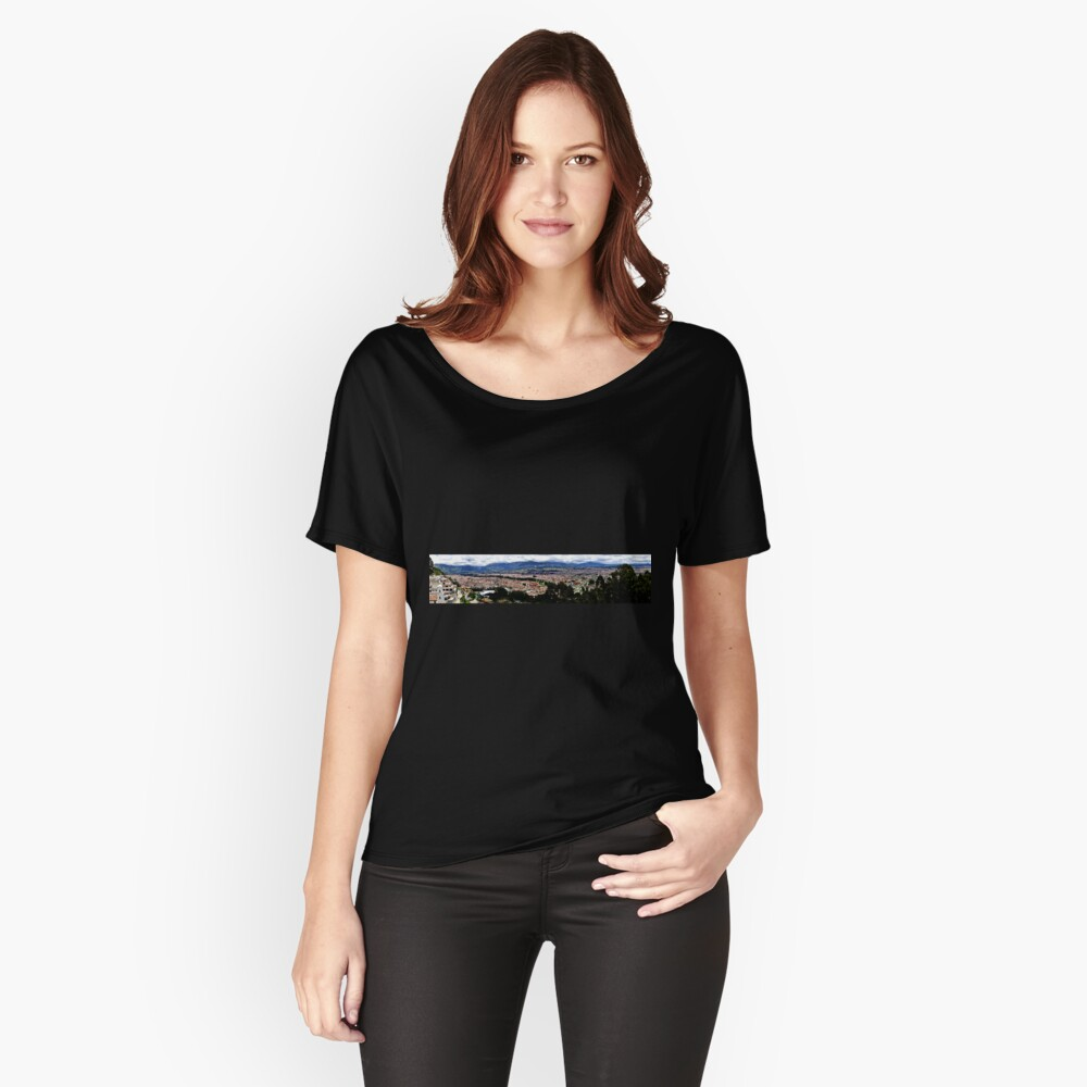 Turi and Cuenca Ecuador Panorama Women's Relaxed Fit T-Shirt Front