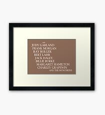 Wizard Of Oz Credits Framed Print