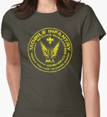 Starship Troopers - Mobile Infantry Patch Womens Fitted T-Shirt