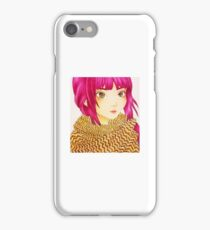 Cord knit scarf iPhone Case/Skin