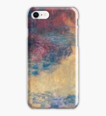 Claude Monet - The Water Lily Pond In The Evening 1916  iPhone Case/Skin