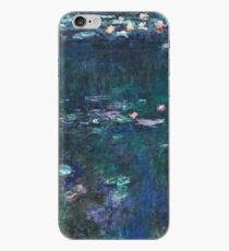 Claude Monet - The Water Lilies - Green Reflections (1915 - 1926) iPhone Case