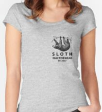 Sloth Inactivewear (Pocket) Women's Fitted Scoop T-Shirt