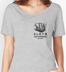 Sloth Inactivewear (Pocket) Women's Relaxed Fit T-Shirt
