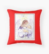 Angel of Protection Throw Pillow