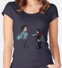 Cute Goblin Sword Scene Women's Fitted Scoop T-Shirt