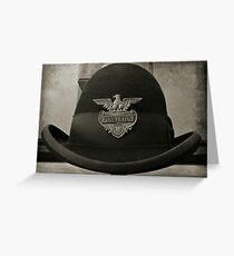 Antique Pinkerton Police Cap Greeting Card