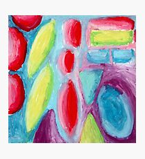 Psychedelic Fruitopia - Oil Pastel Painting Photographic Print