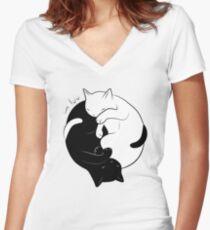 Eternal Cat Love Women's Fitted V-Neck T-Shirt
