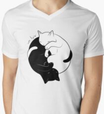 Eternal Cat Love Men's V-Neck T-Shirt