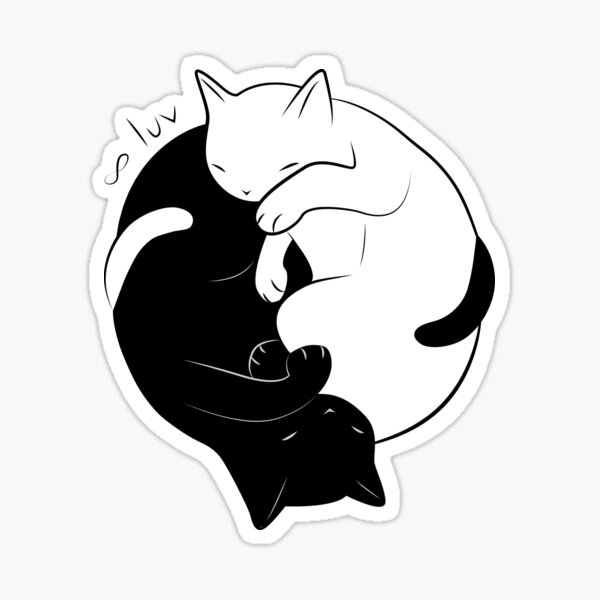 Eternal Cat Love Sticker