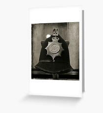 Old Antique Police Hat Greeting Card