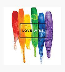Lámina fotográfica Acuarela LGBT Love gana tipografía Rainbow Paint tipográfico