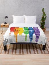 Aquarell LGBT Liebe gewinnt Regenbogen-Farbe typografisch Fleecedecke