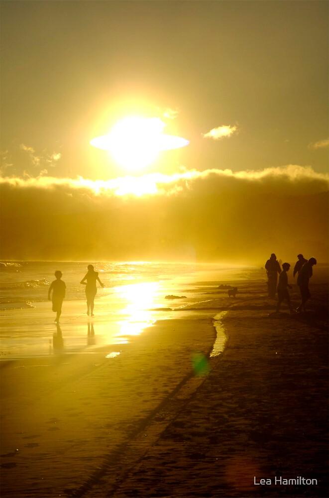 Beach Rush Hour by Lea Hamilton