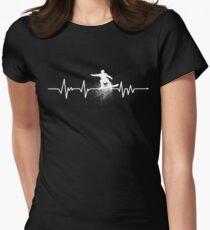 Heartbeat Snowboarding Women's Fitted T-Shirt
