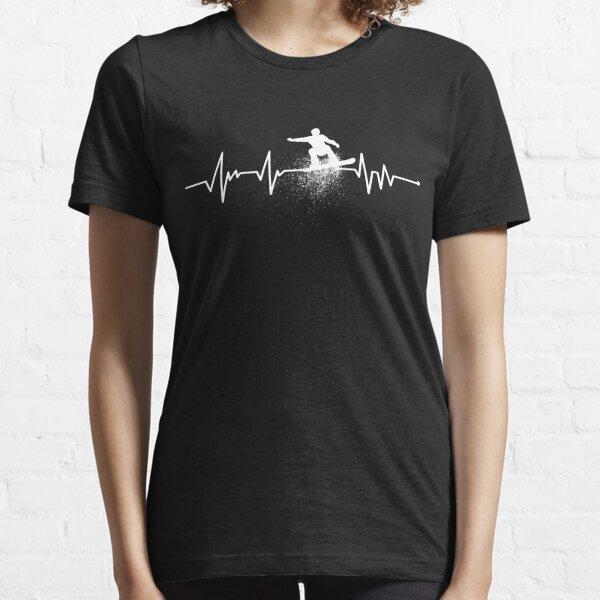 Heartbeat Snowboarding Essential T-Shirt