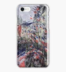 Claude Monet - The Rue Saint - Denis, Celebration Of June 30, 1878 iPhone Case/Skin