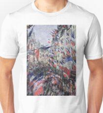 Claude Monet - The Rue Saint - Denis, Celebration Of June 30, 1878 Unisex T-Shirt