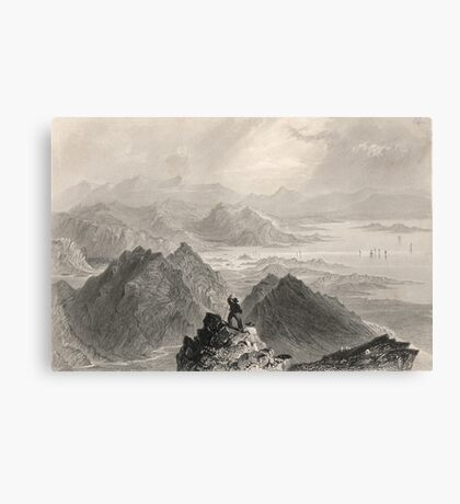 View from Sugarloaf, Bantry Bay, Cork, Ireland Canvas Print