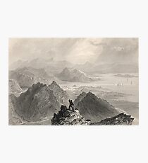 View from Sugarloaf, Bantry Bay, Cork, Ireland Photographic Print