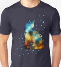 Space Cat On Milky Way, Kitty, Space, Galaxy Unisex T-Shirt