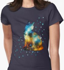 Space Cat On Milky Way, Kitty, Space, Galaxy T-Shirt