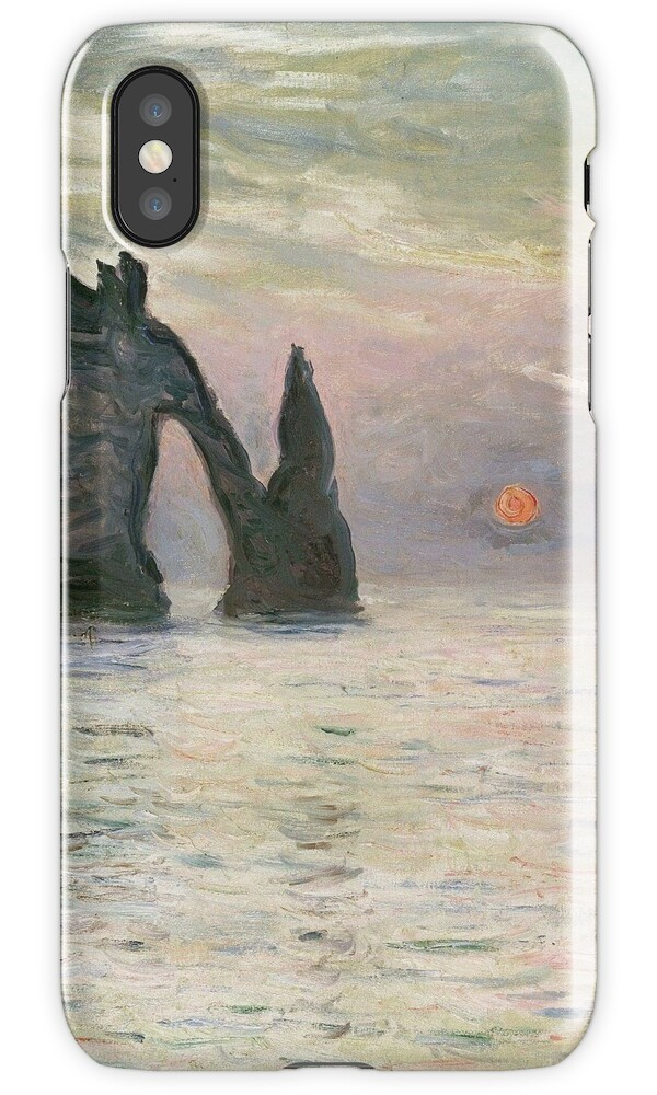 how to store photos from iphone quot claude monet the manneport cliff at etretat sunset 1883