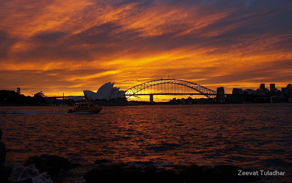 Golden Sunset by Zeevat Tuladhar