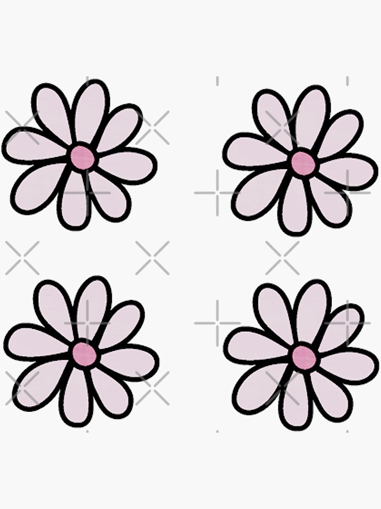 4 Flowers Stickers Pack by saracreates
