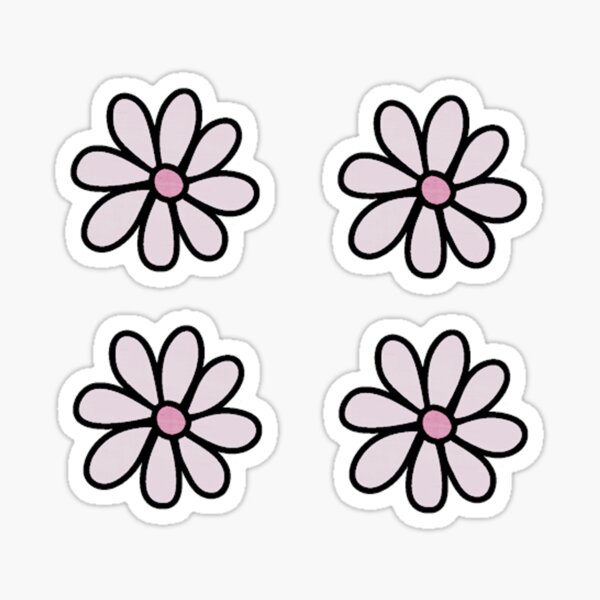 4 Flowers Stickers Pack Sticker