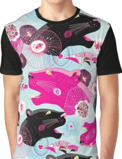 Fashionable pattern with panther heads Graphic T-Shirt