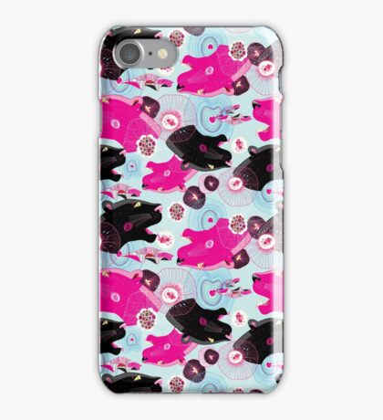 Fashionable pattern with panther heads iPhone Case/Skin