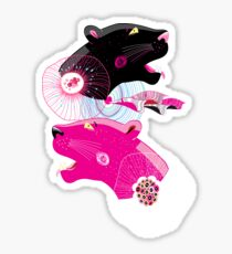 Fashionable pattern with panther heads Sticker