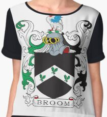 Broom Coat of Arms Chiffon Top