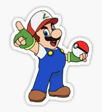 Super Mario x Ash Ketchum Sticker