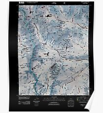 USGS TOPO Map Colorado CO Garfield 20110217 TM Inverted Poster