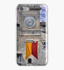 Cortona Tuscany clock tower iPhone Case/Skin