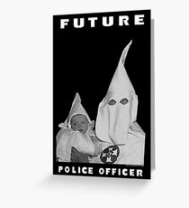 1993 biggie smalls 'future police officers' KKK vintage conart clothing hip-hop Greeting Card
