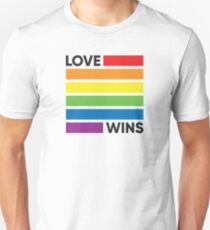Rainbow Flag Love Wins - LGBT Pride Unisex T-Shirt